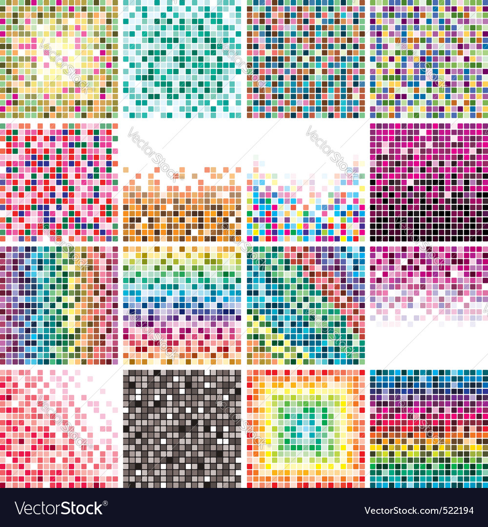 Colorful tile backgrounds vector | Price: 1 Credit (USD $1)