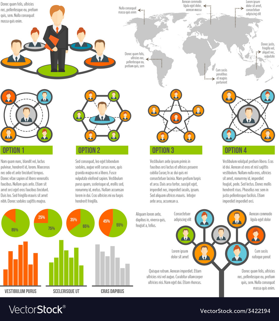 Connected people infographics vector | Price: 1 Credit (USD $1)
