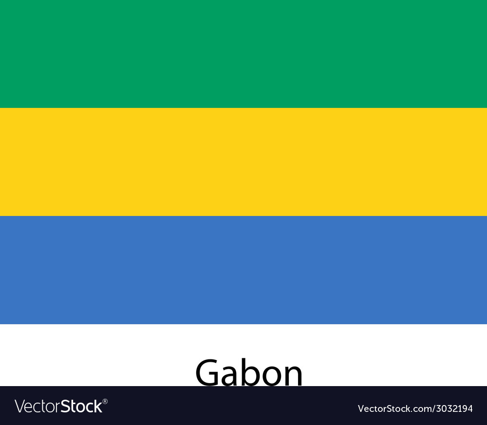 Flag of the country gabon vector | Price: 1 Credit (USD $1)