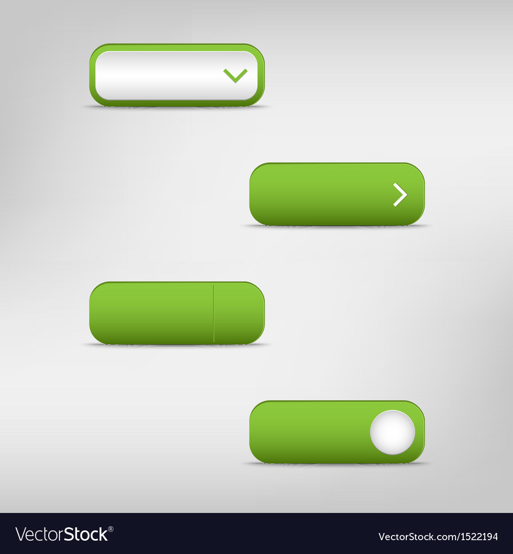 Green empty rectangular buttons vector | Price: 1 Credit (USD $1)