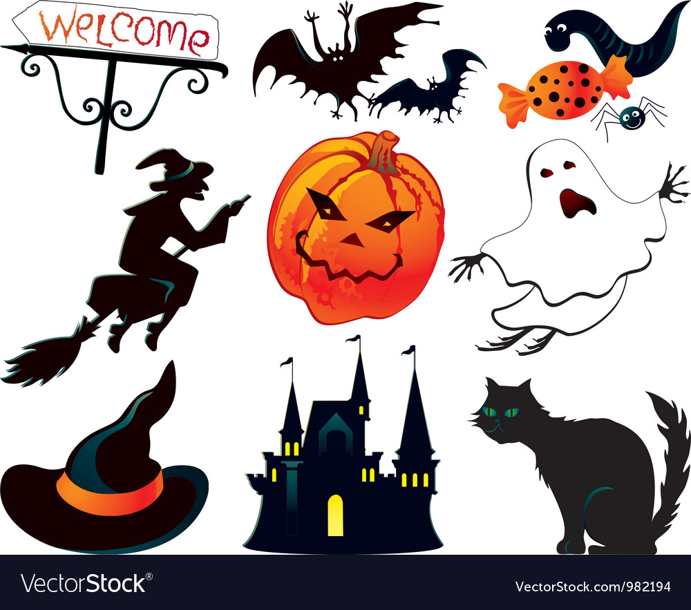 Halloween symbols vector | Price: 3 Credit (USD $3)