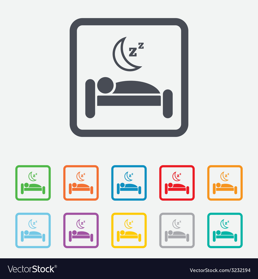 Hotel sign icon rest place sleeper symbol vector   Price: 1 Credit (USD $1)