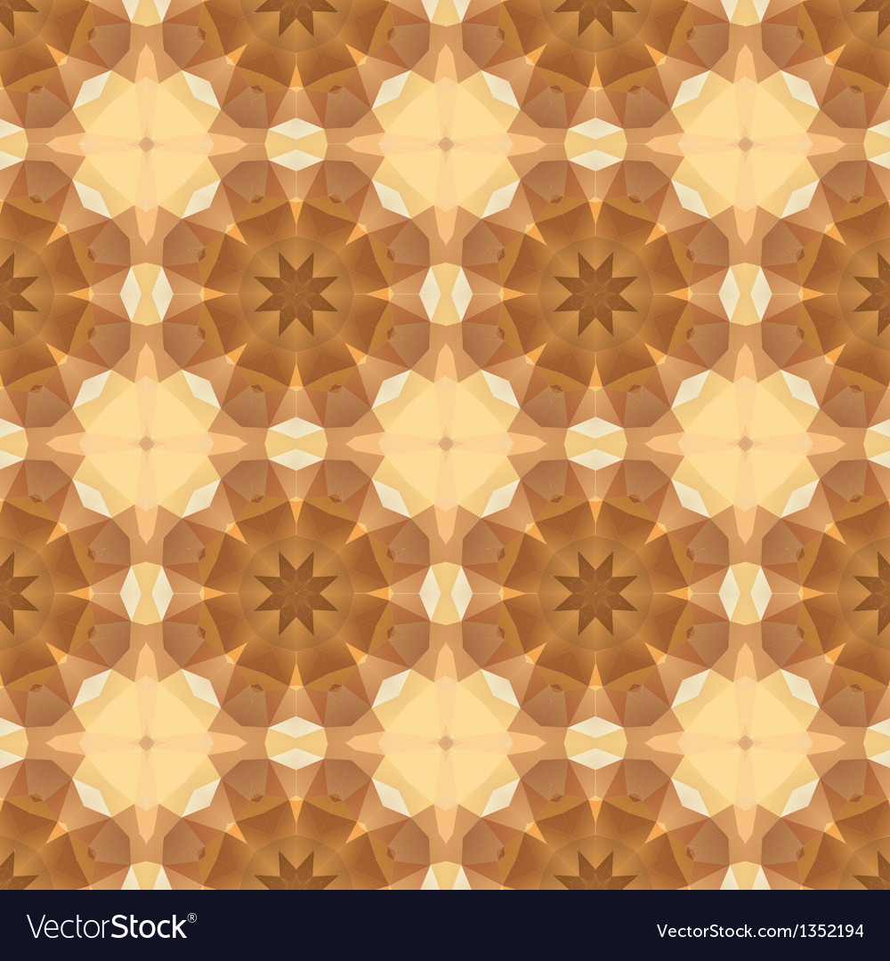 Kaleidoscope abstract gold pattern vector | Price: 1 Credit (USD $1)
