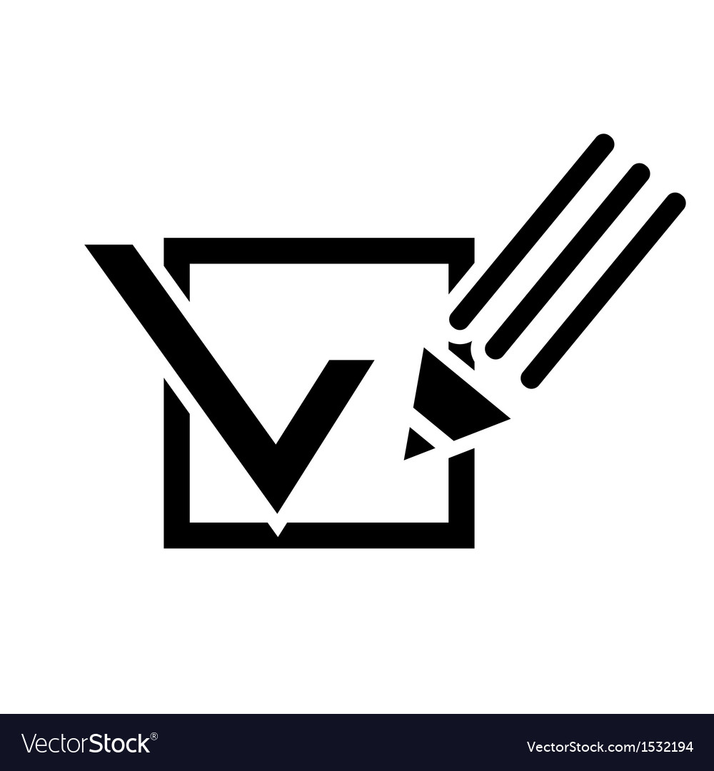 Pencil and a tick box vector   Price: 1 Credit (USD $1)