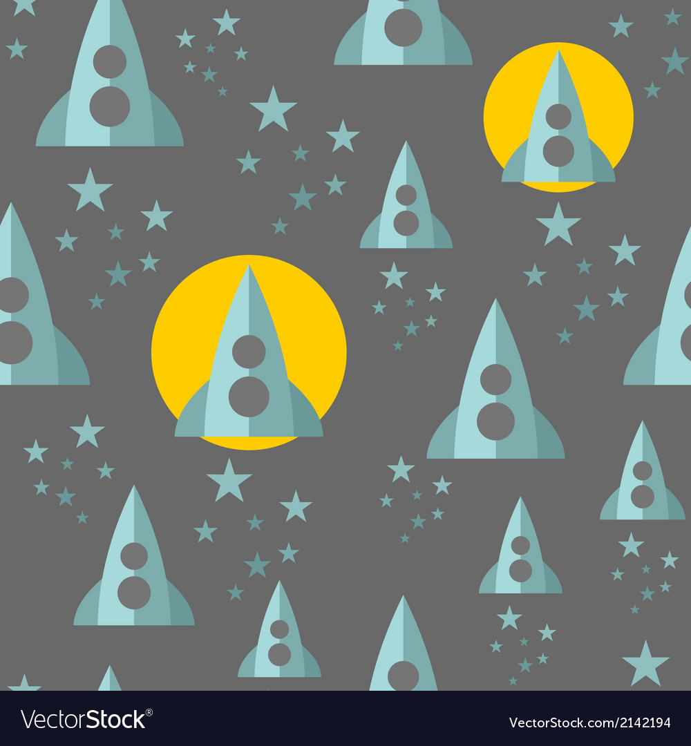 Seamless pattern with space ship vector | Price: 1 Credit (USD $1)
