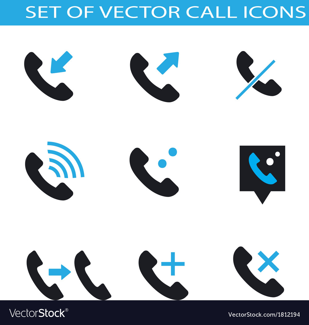 Set of call icons vector | Price: 1 Credit (USD $1)