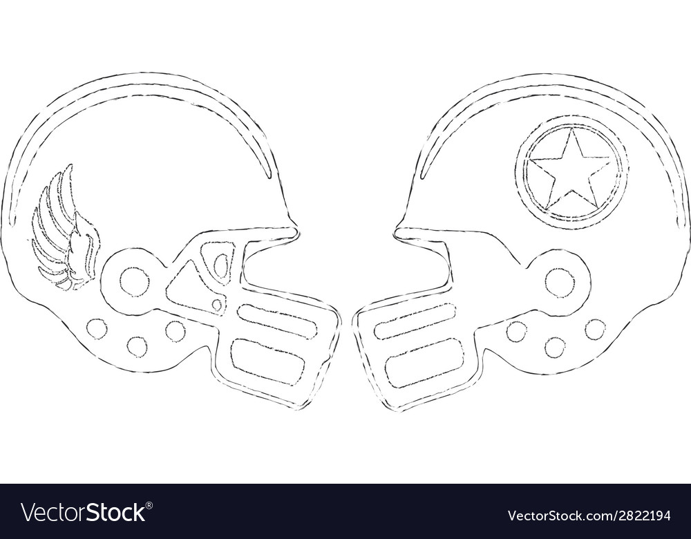 Sports helmets vector | Price: 1 Credit (USD $1)