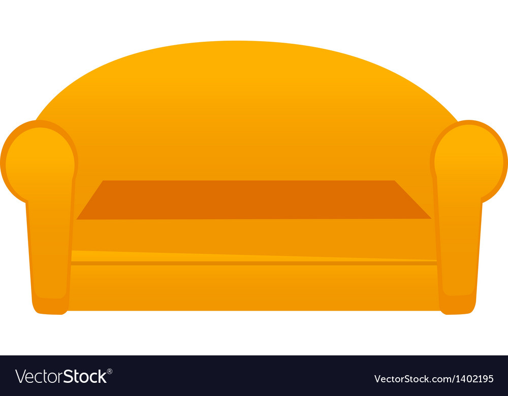 A sofa is palced vector