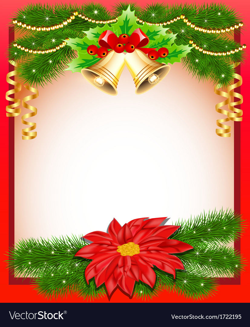 Background christmas with flower vector | Price: 1 Credit (USD $1)