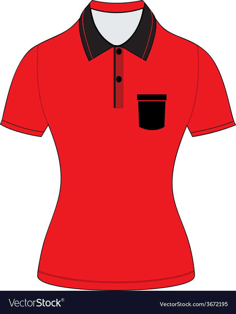 Black polo shirt outline vector | Price: 1 Credit (USD $1)