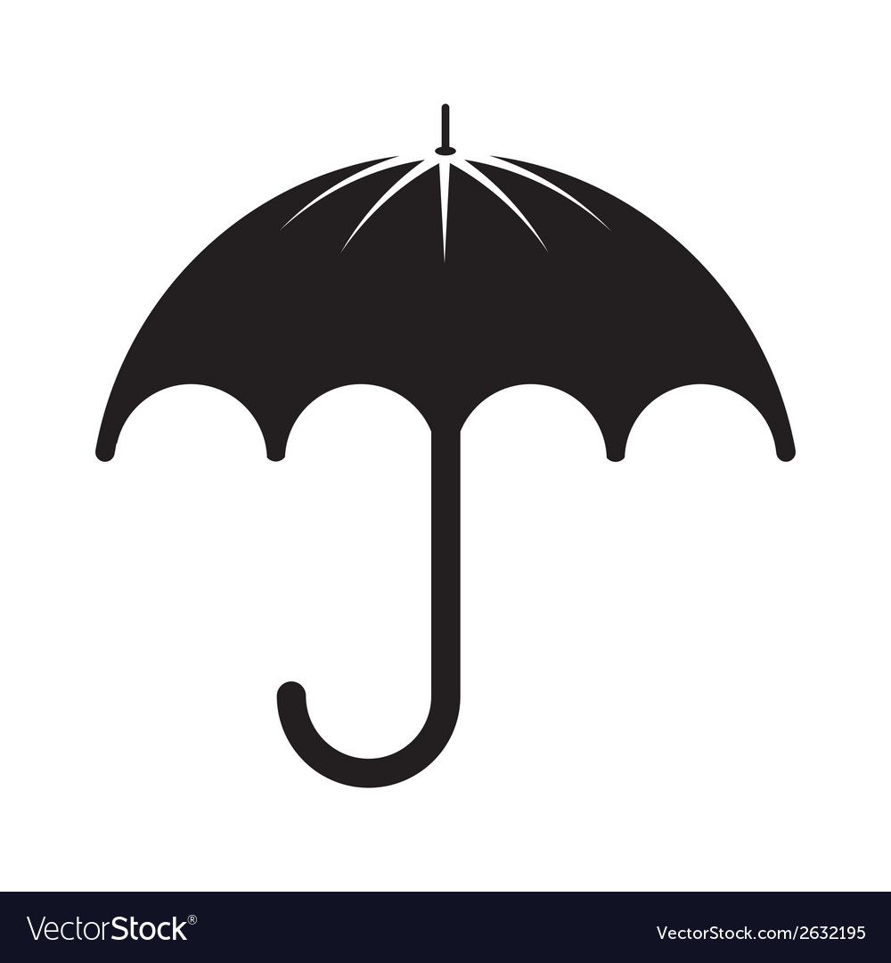 Black umbrella silhouette vector | Price: 1 Credit (USD $1)
