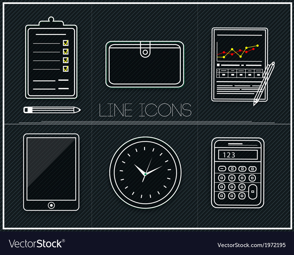 Business work elements vector | Price: 1 Credit (USD $1)