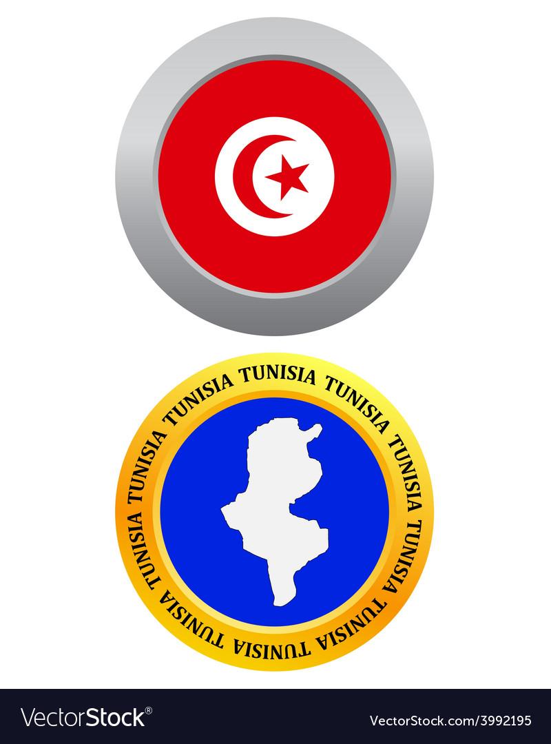 Button as a symbol map tunisia vector | Price: 1 Credit (USD $1)