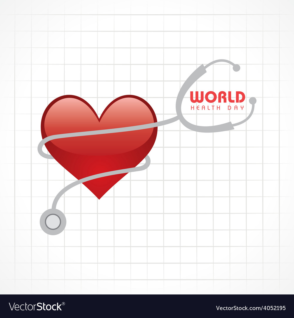 Creative world health day greeting vector | Price: 1 Credit (USD $1)