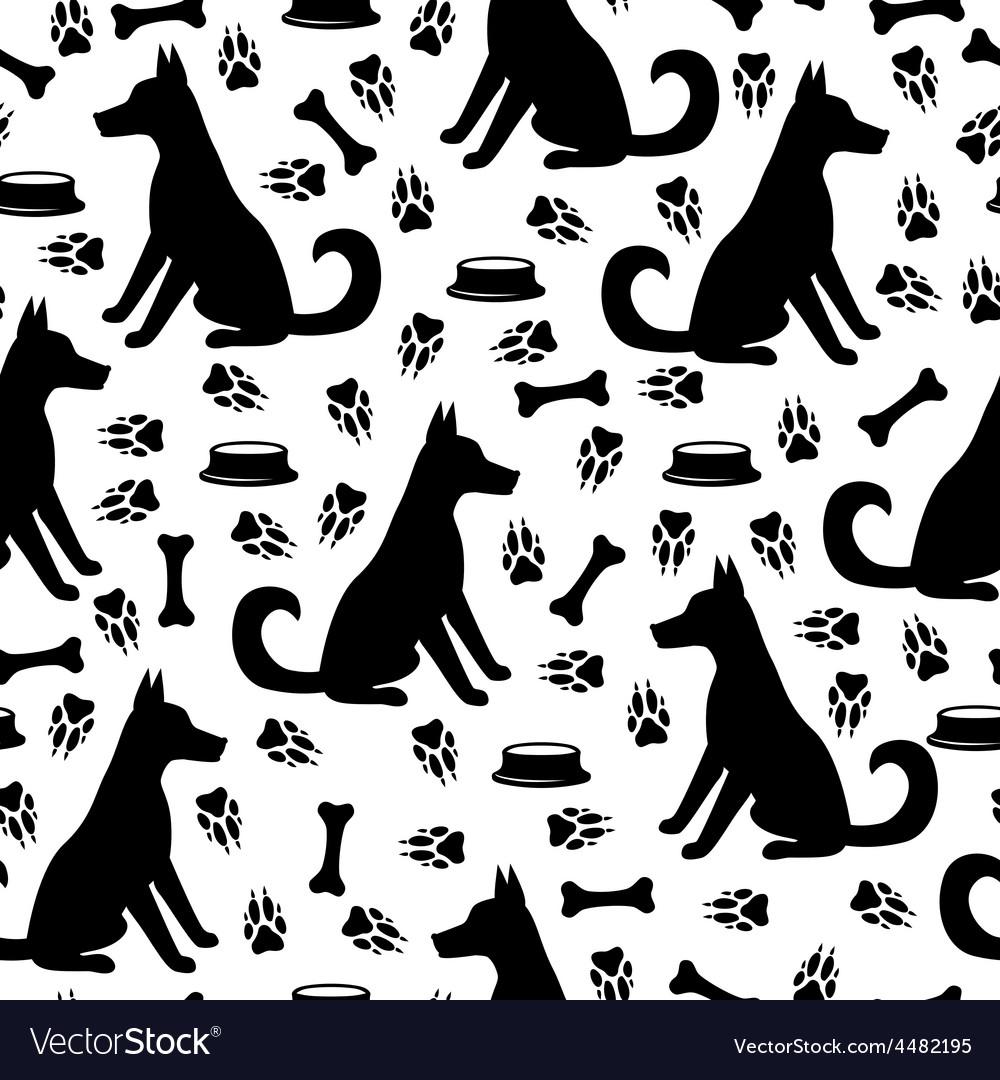 Dog pattern vector | Price: 1 Credit (USD $1)