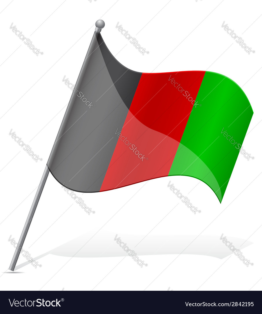 Flag of afghanistan vector | Price: 1 Credit (USD $1)
