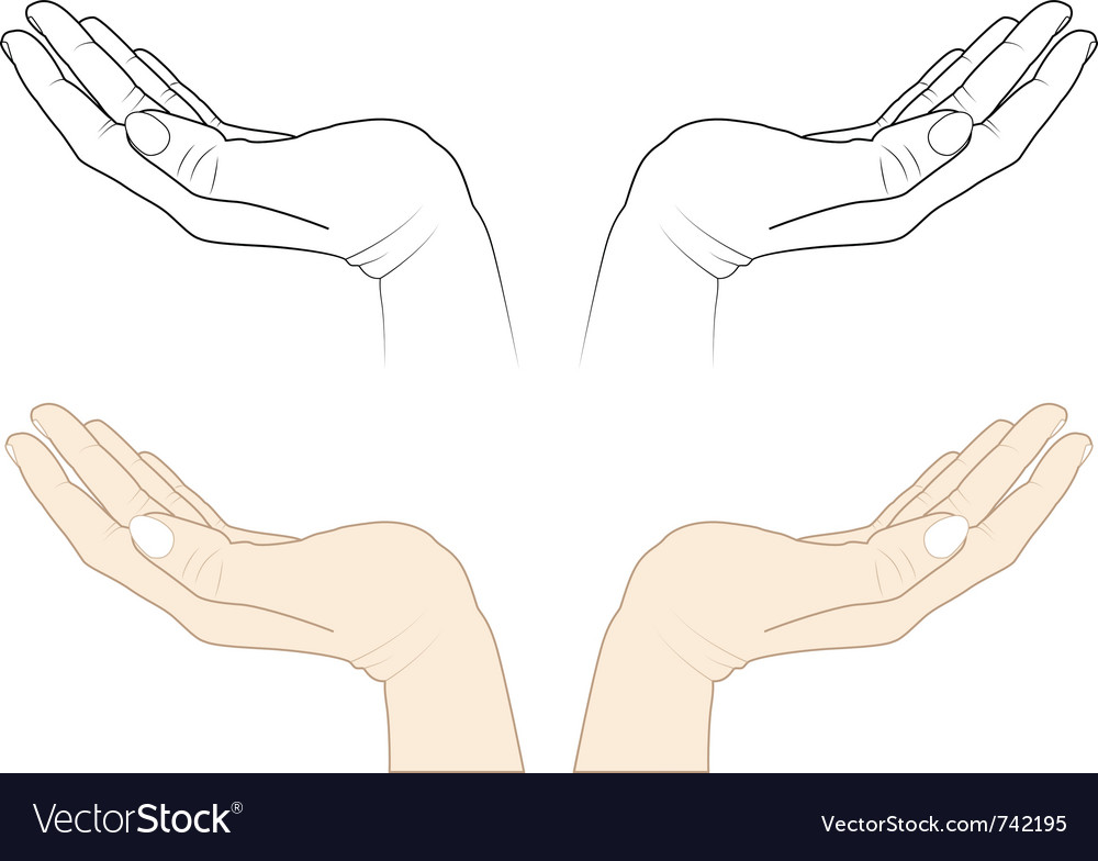 Open hands vector | Price: 1 Credit (USD $1)