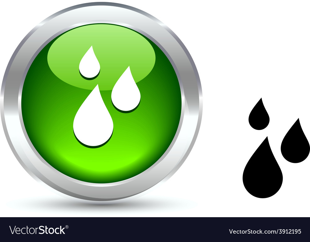 Rain button vector   Price: 1 Credit (USD $1)