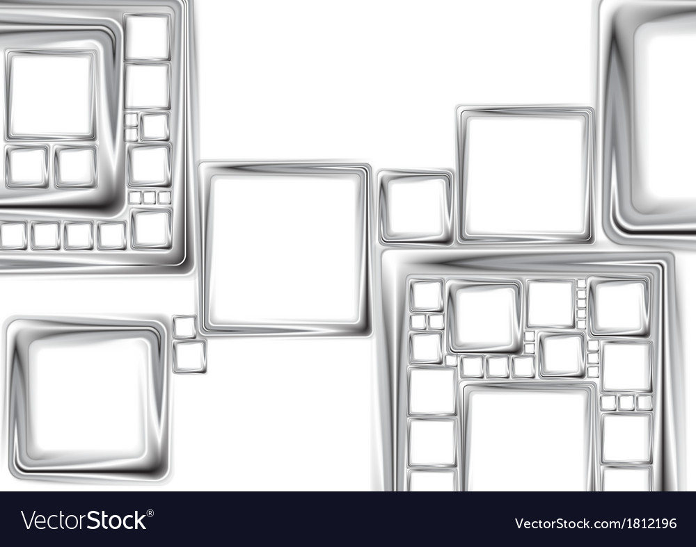 Abstract metallic squares tech design vector | Price: 1 Credit (USD $1)