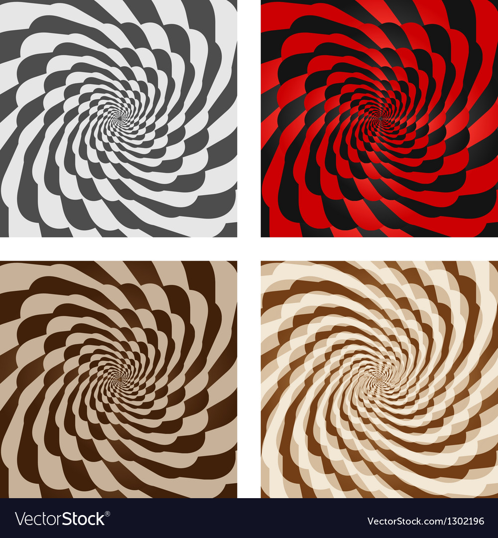 Abstract spiral background set vector | Price: 1 Credit (USD $1)