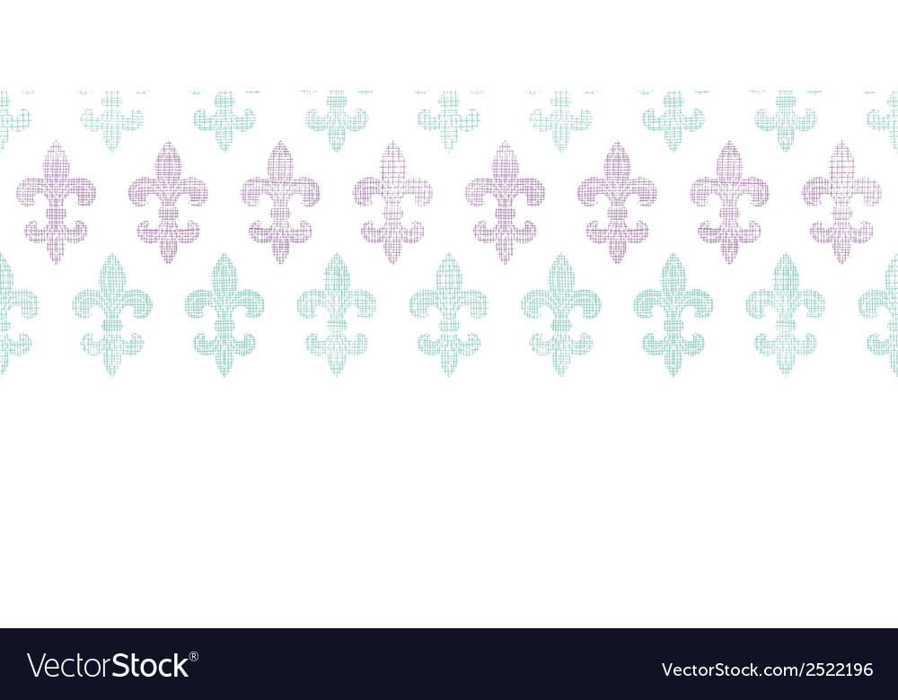 Abstract textile fleur de lis stripes horizontal vector | Price: 1 Credit (USD $1)