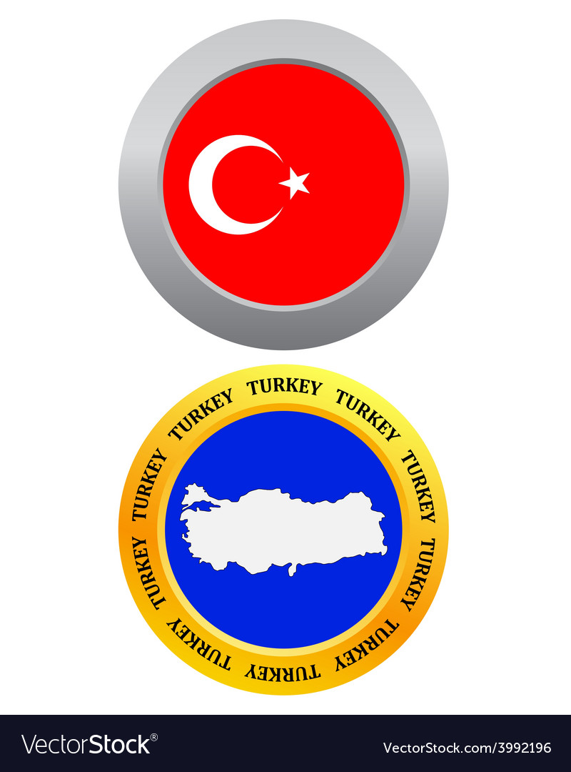 Button as a symbol map turkey vector | Price: 1 Credit (USD $1)