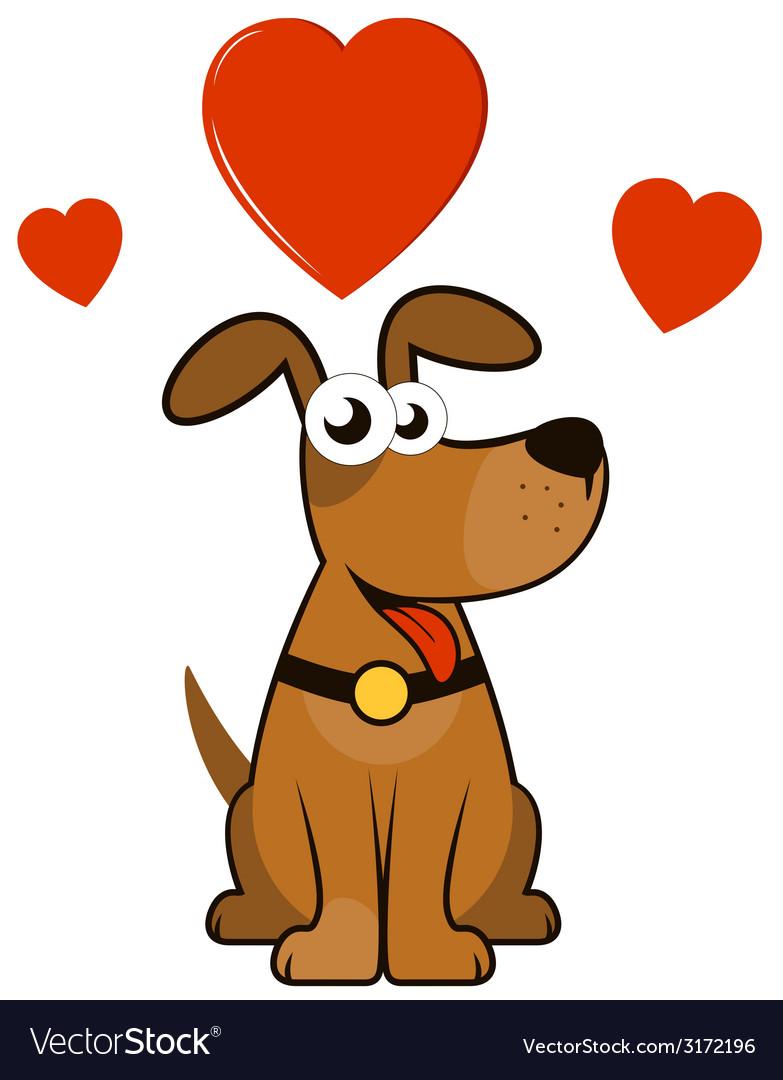 Cartoon enamoured dog vector | Price: 1 Credit (USD $1)