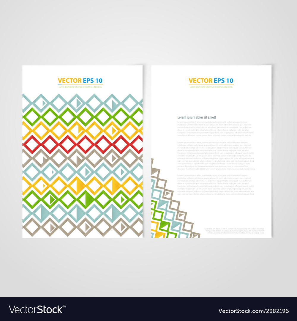 Flyer template back and front design vector | Price: 1 Credit (USD $1)