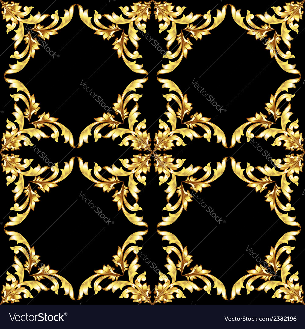 Golden f pattern vector | Price: 1 Credit (USD $1)