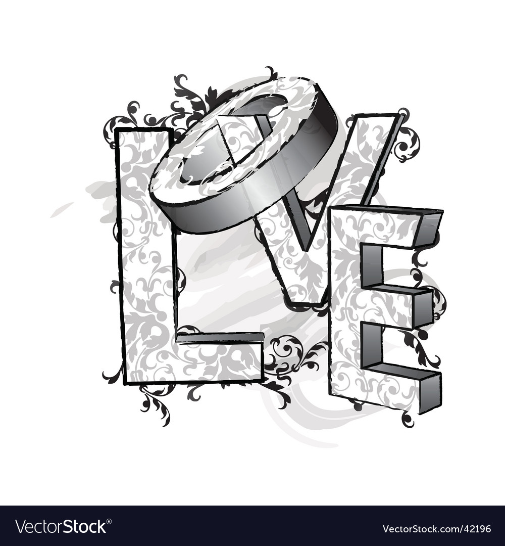 Love letters vector | Price: 1 Credit (USD $1)
