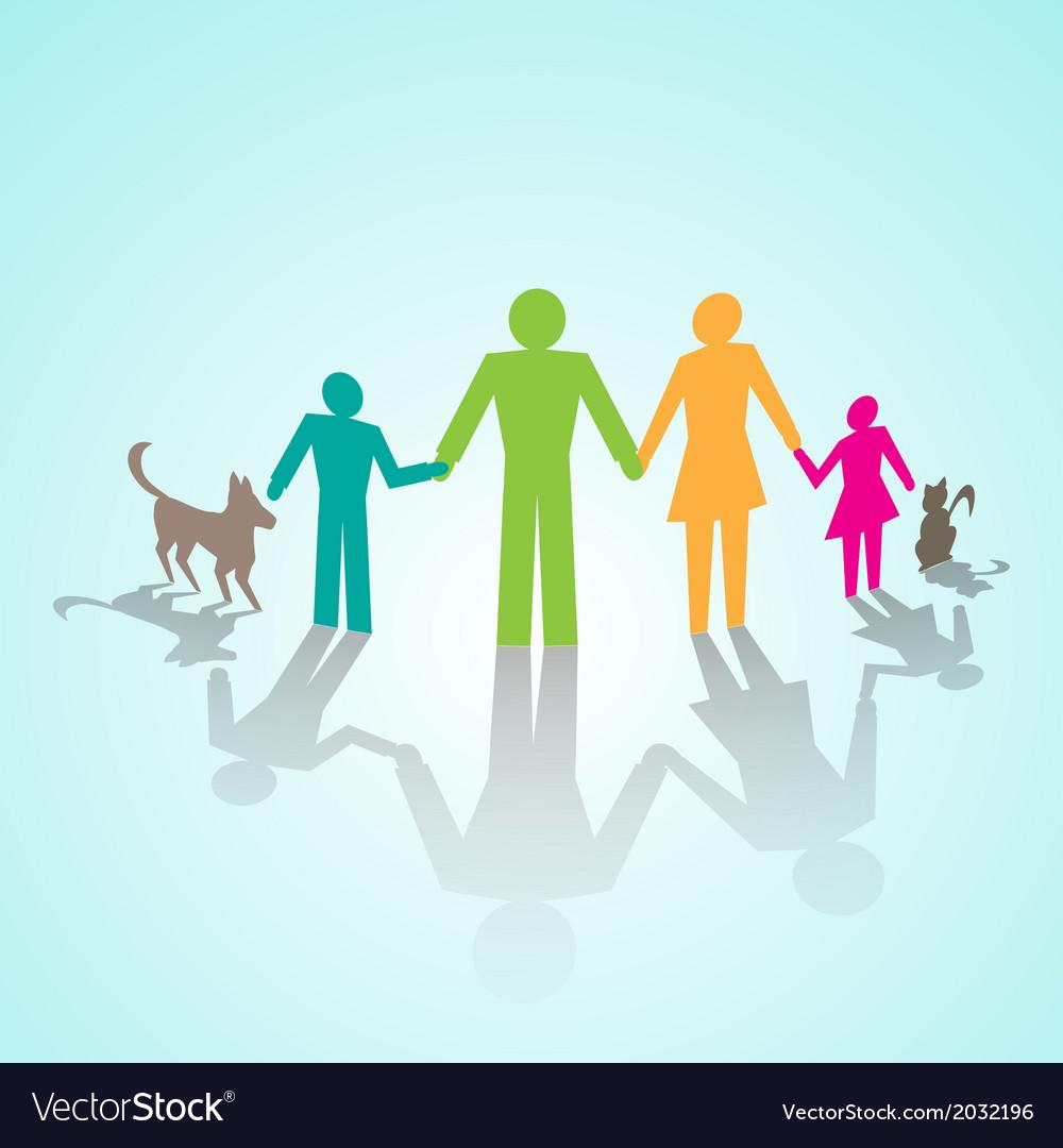 Multicolor family pictograms vector | Price: 1 Credit (USD $1)