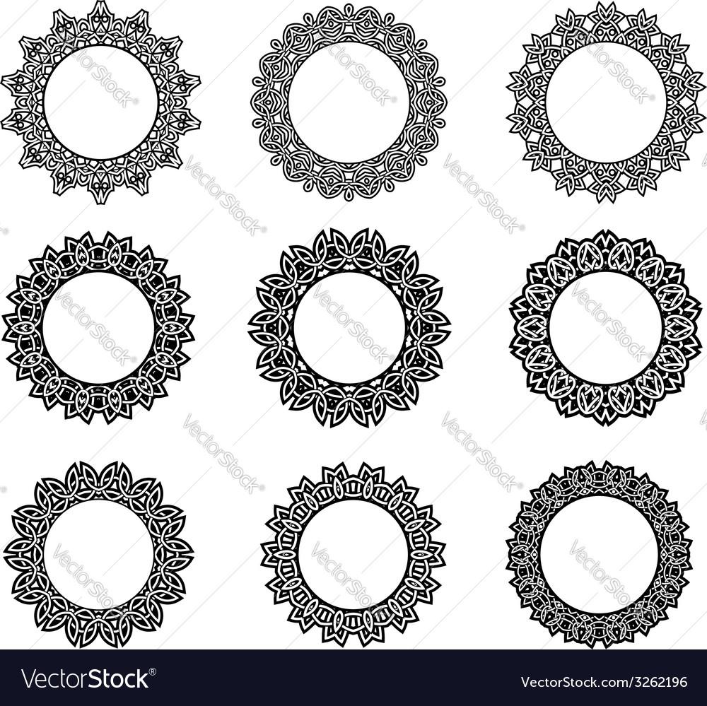 Round vintage celtic frames vector | Price: 1 Credit (USD $1)