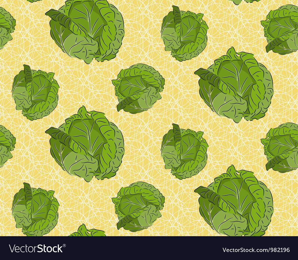 Seamless background with cabbage vector | Price: 1 Credit (USD $1)