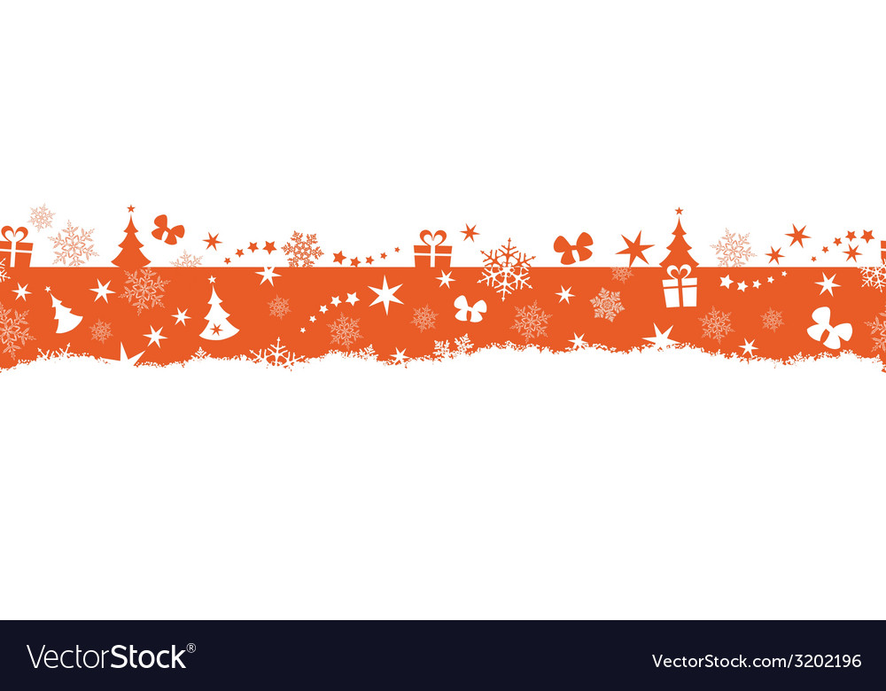 Seamless winter christmas border vector