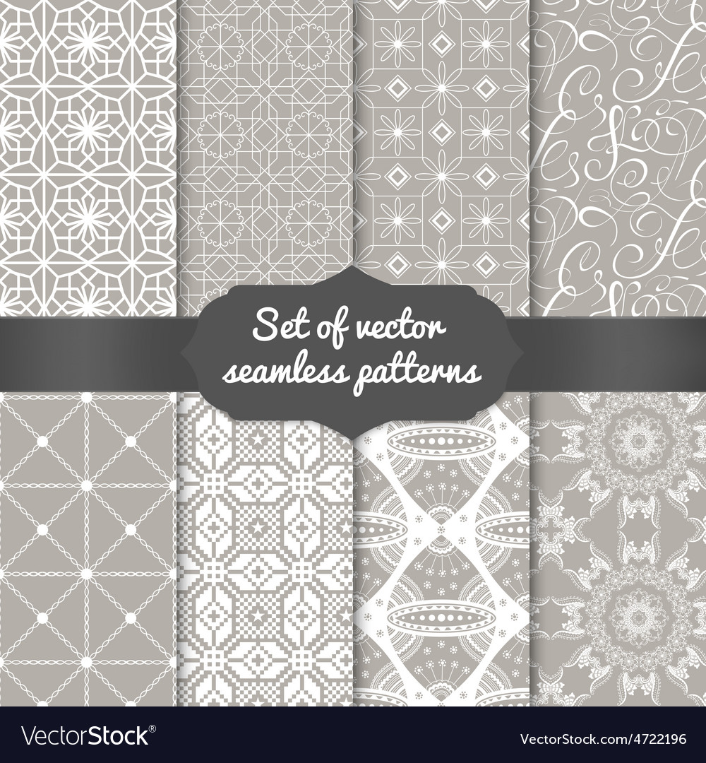 Set of abstract geometric pattern backgrounds vector | Price: 1 Credit (USD $1)