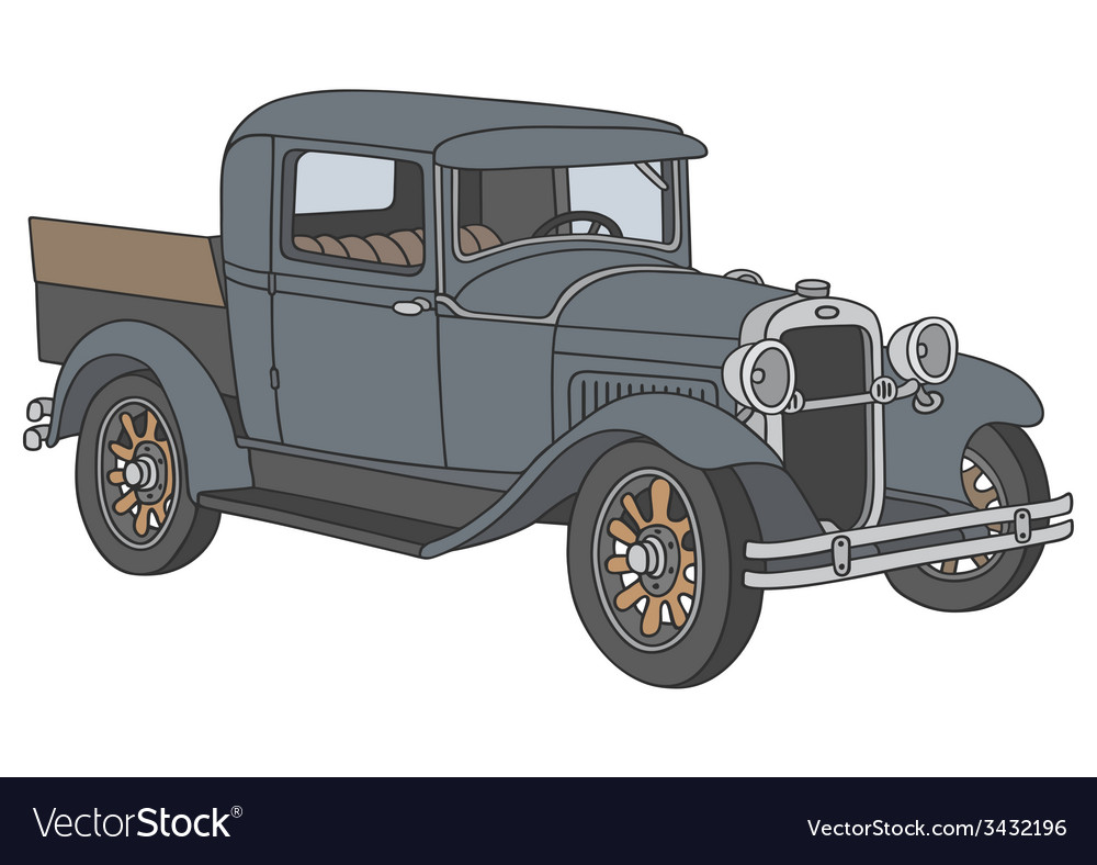 Vintage pick-up vector | Price: 1 Credit (USD $1)