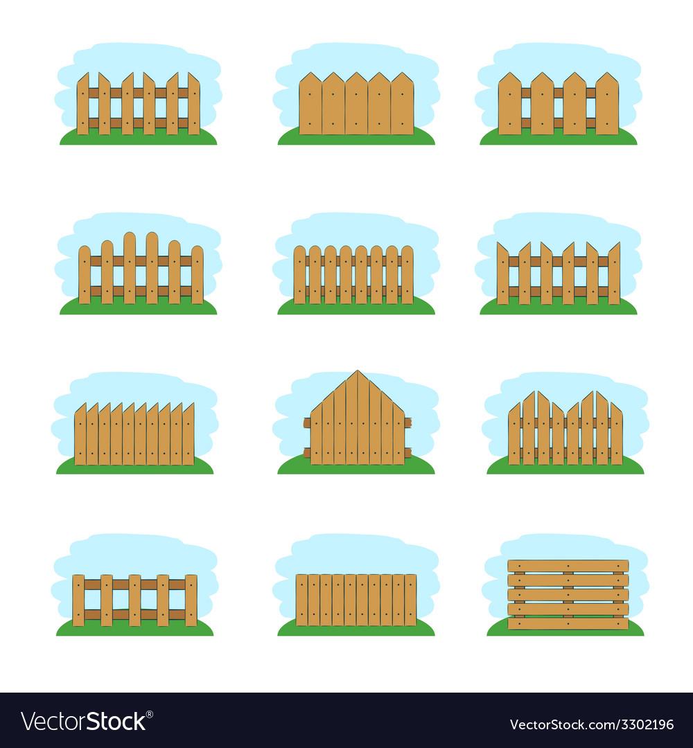 Wooden fences vector | Price: 1 Credit (USD $1)