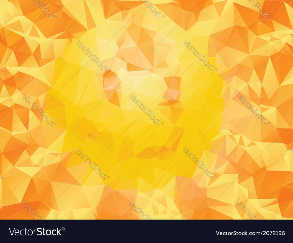 Yellow polygonal background2 vector | Price: 1 Credit (USD $1)