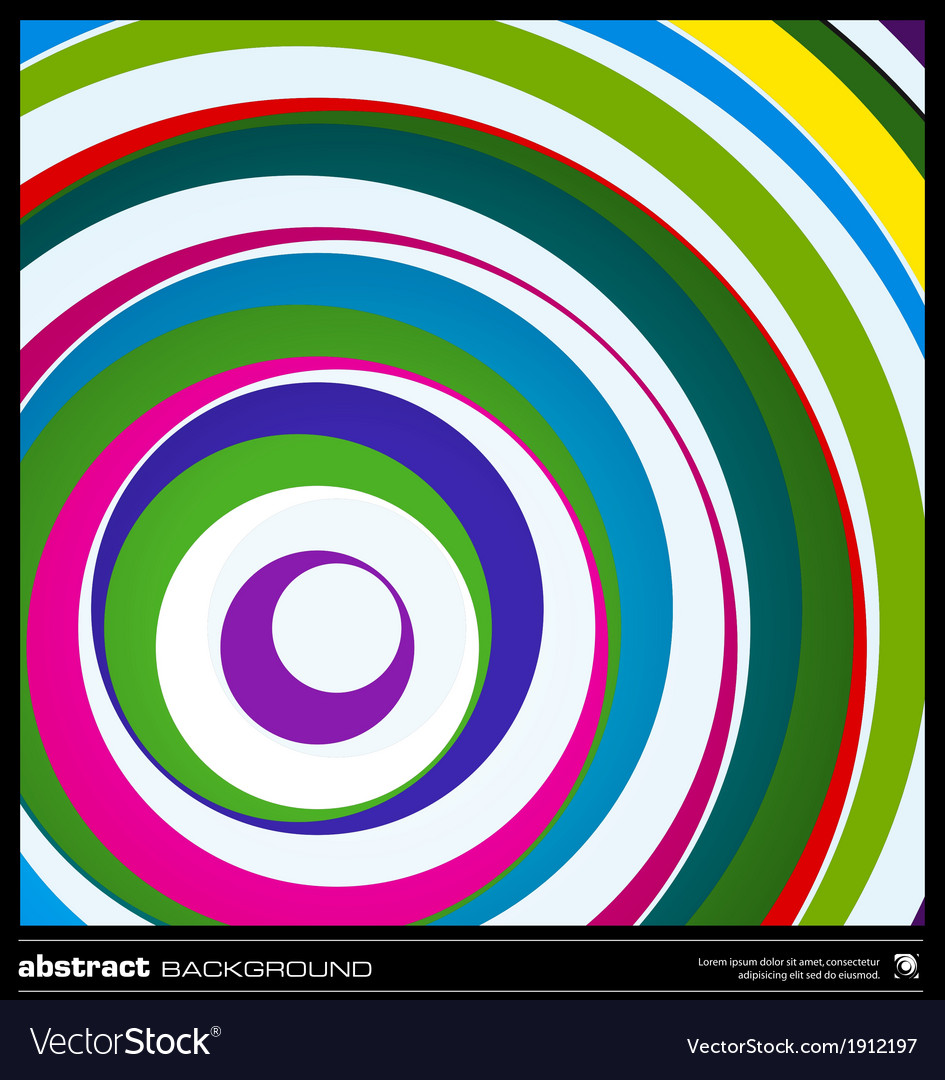 Abstract circles background vector | Price: 1 Credit (USD $1)