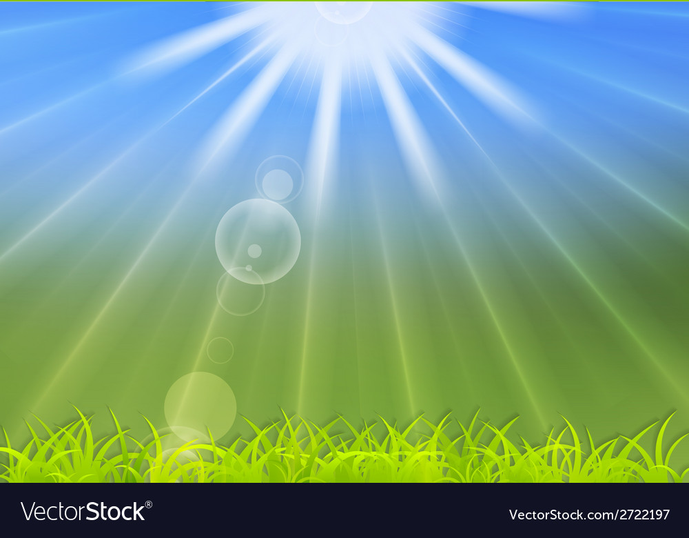 Abstract summer sunlight background vector | Price: 1 Credit (USD $1)