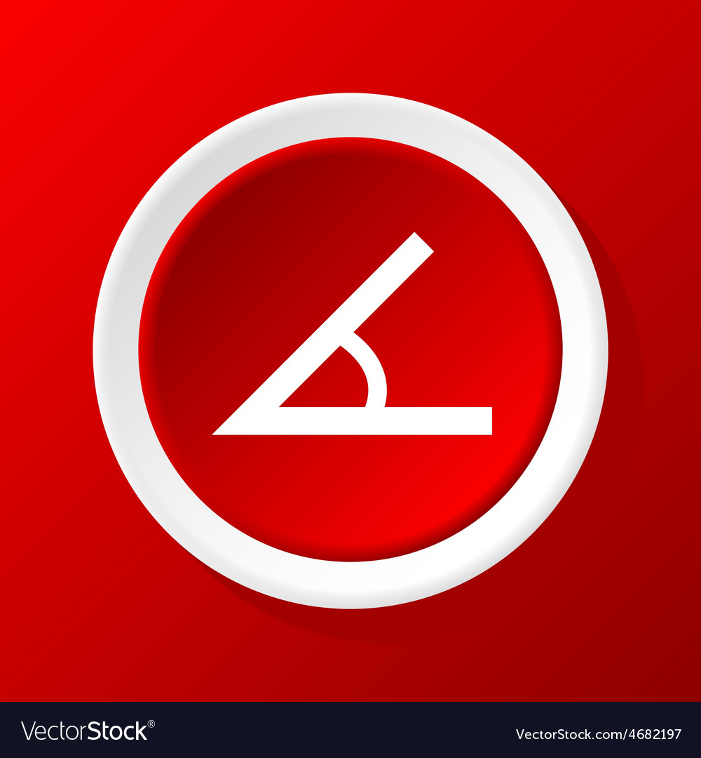 Angle icon on red vector | Price: 1 Credit (USD $1)