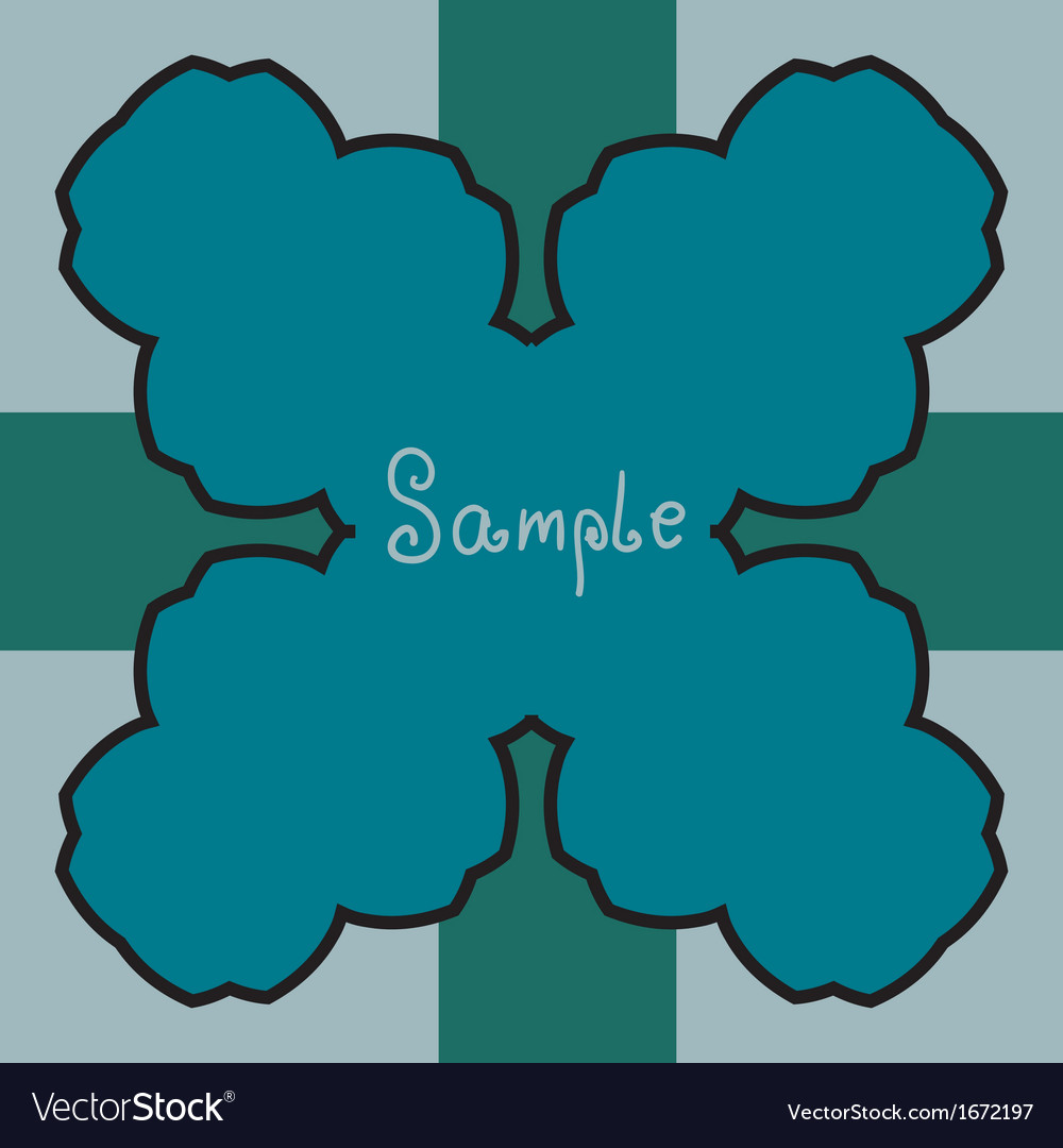 Blue floral decoration vector | Price: 1 Credit (USD $1)