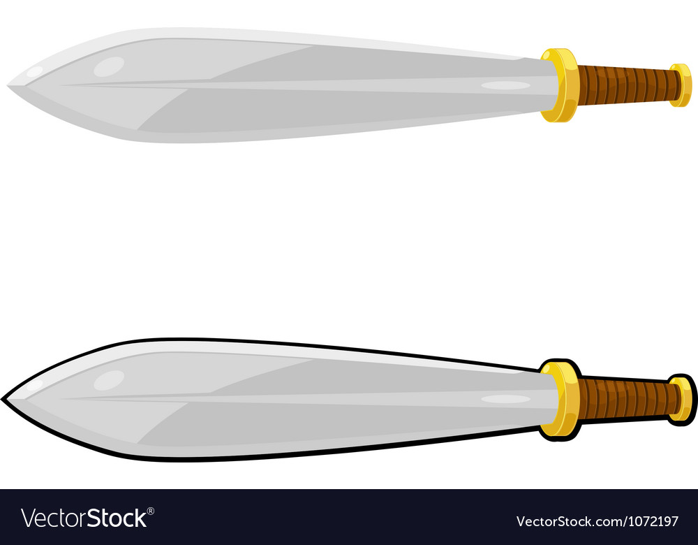 Cartoon sword eps10 vector | Price: 1 Credit (USD $1)