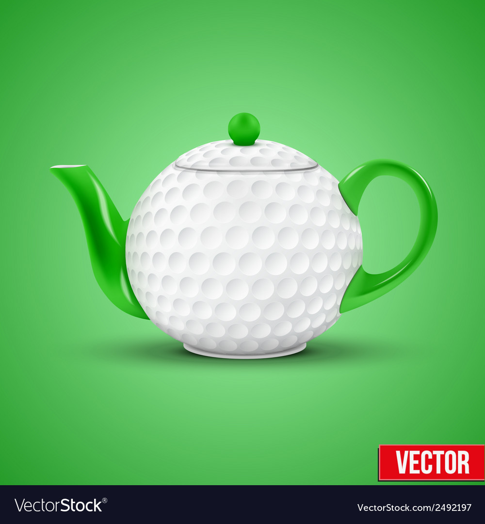 Ceramic teapot in golf ball style vector | Price: 1 Credit (USD $1)