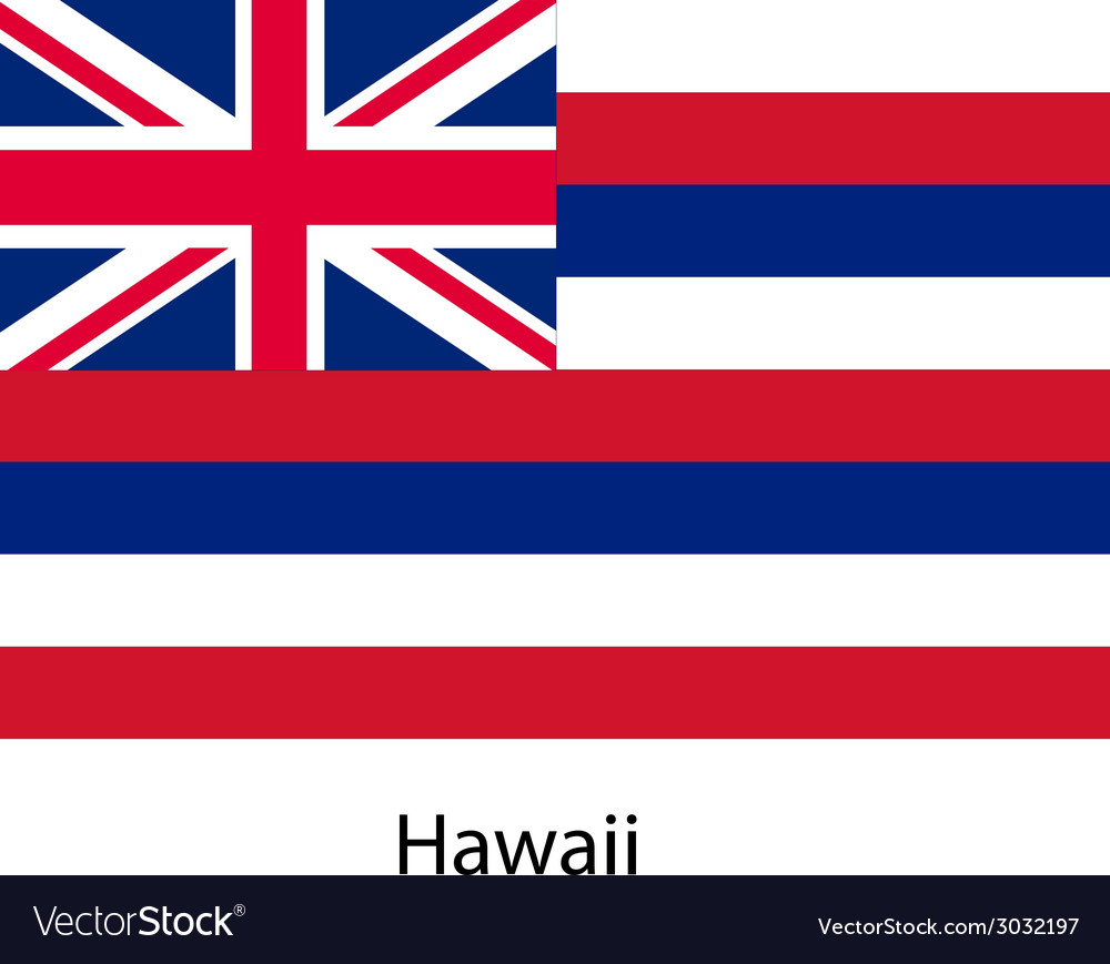 Flag of the country hawaii vector | Price: 1 Credit (USD $1)