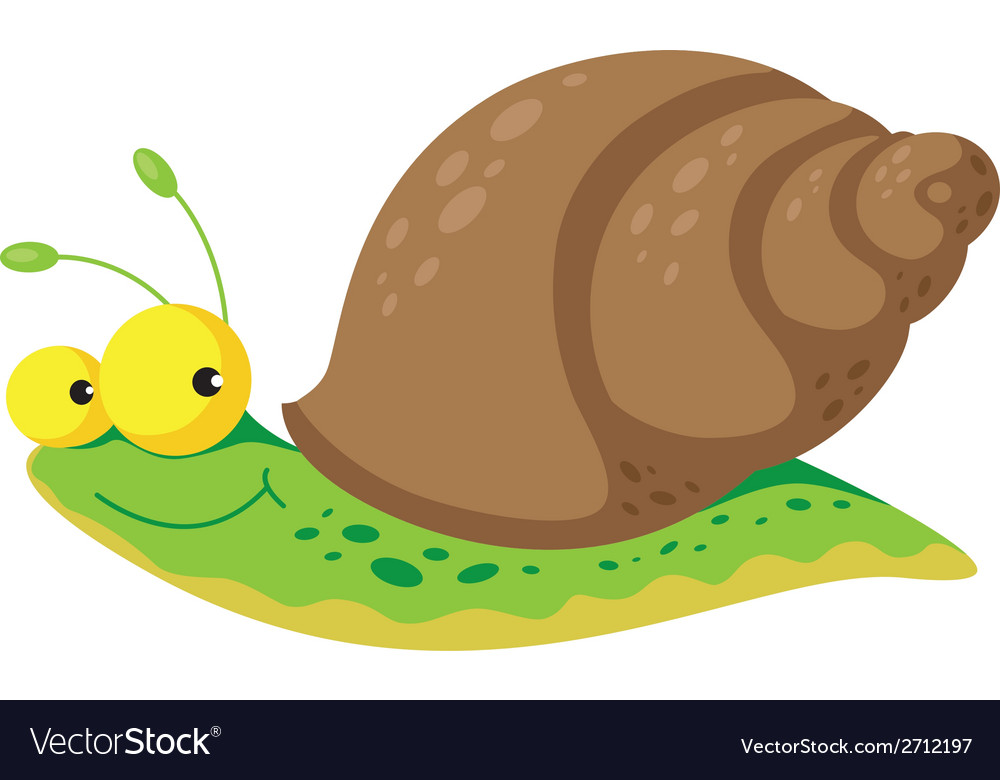Snail funny vector | Price: 1 Credit (USD $1)