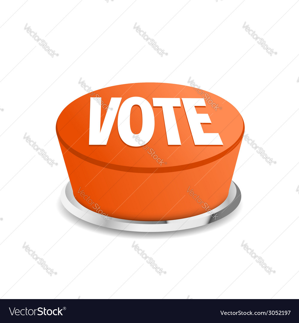 Time to vote button sign template vector | Price: 1 Credit (USD $1)