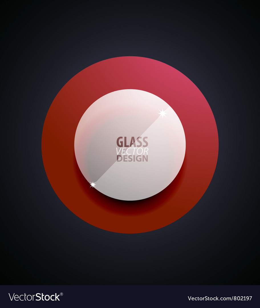 Transparent glass button vector | Price: 1 Credit (USD $1)