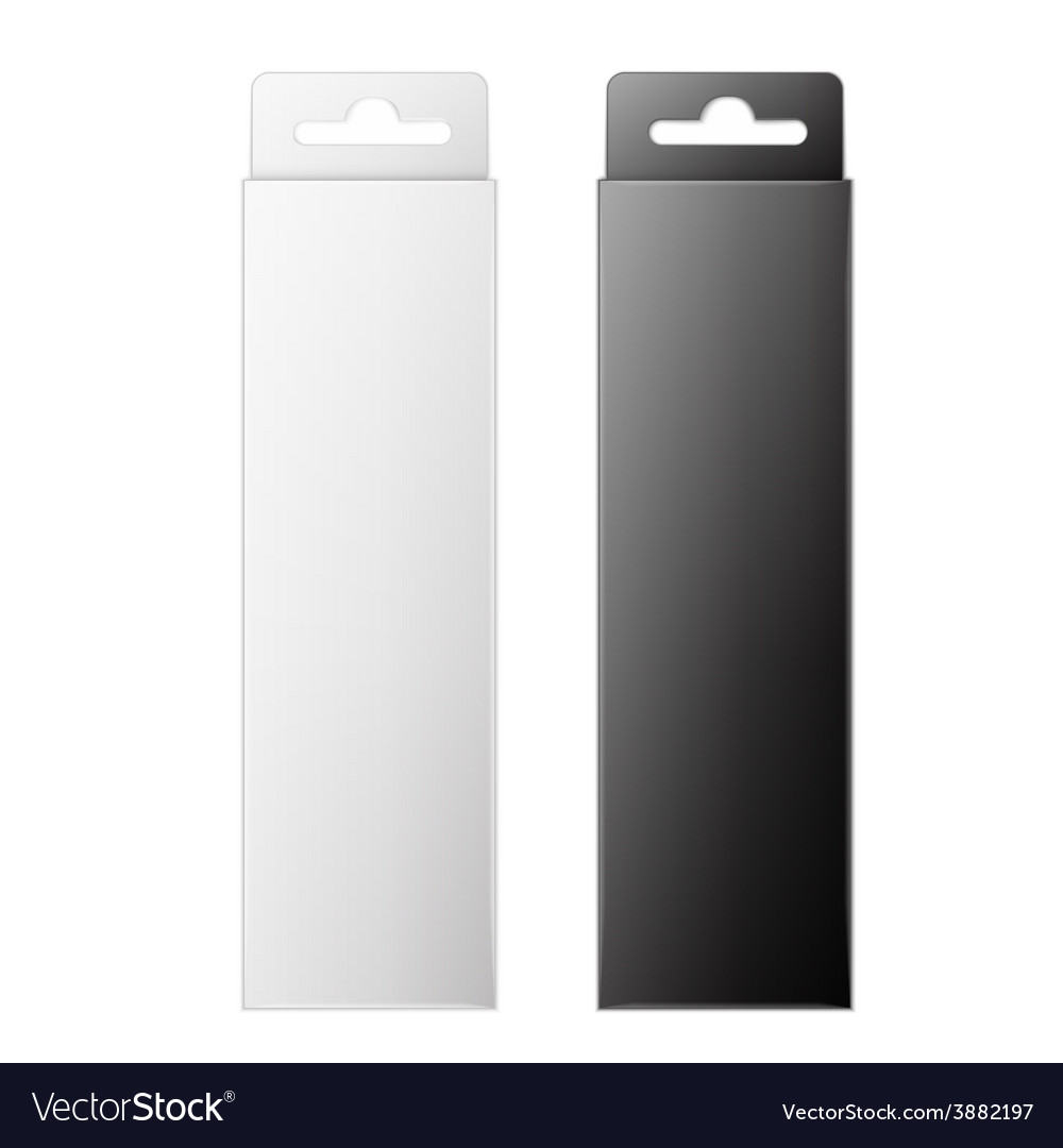 White and black product package box isolated on vector | Price: 1 Credit (USD $1)