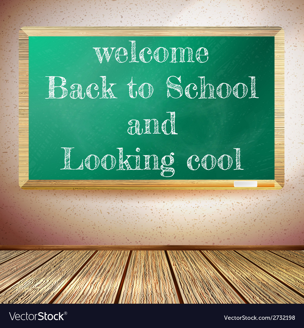 Back to school poster with chalkboard eps10 vector | Price: 1 Credit (USD $1)